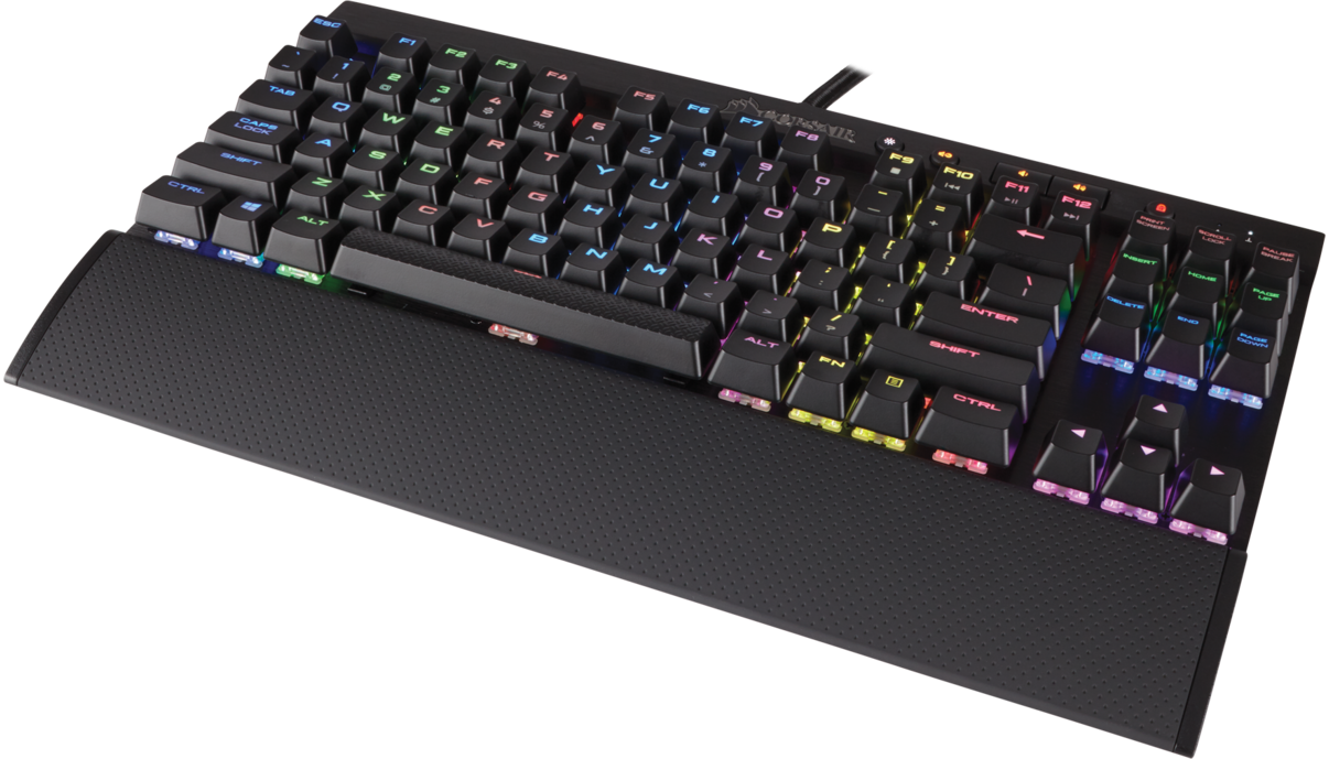 Corsair K65 Rgb Compact Mechanical Gaming Keyboard Cherry Mx Red