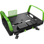 In Win X-Frame 2.0 Chassis - Black & Green  (E-ATX, Open-Air, 1065W PSU)