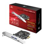 Vantec 3-Port USB 3.0 (2x Type A/1x Type C) PCI-E Card