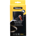 Fellowes Screen Cleaning Spray with 20x Wipes - 125ml