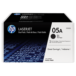 HP 05A Original LaserJet Toner Cartridge - Dual Pack, Black (CE505D)
