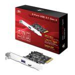 Vantec 2-Port USB 3.1 Gen II Type A/C PCIe Card