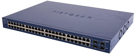 Netgear ProSafe GS748T 48-Port Smart Managed Switch with 2x SFP slots for Fibre Modules and two combo 1000Mbps SFP fiber ports