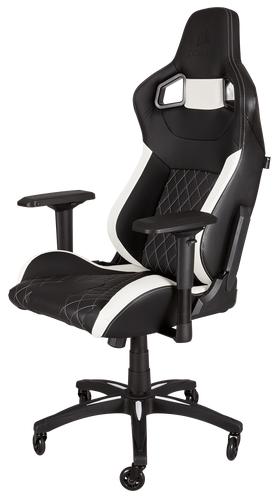 Corsair T1 RACE Gaming Chair - Black/White